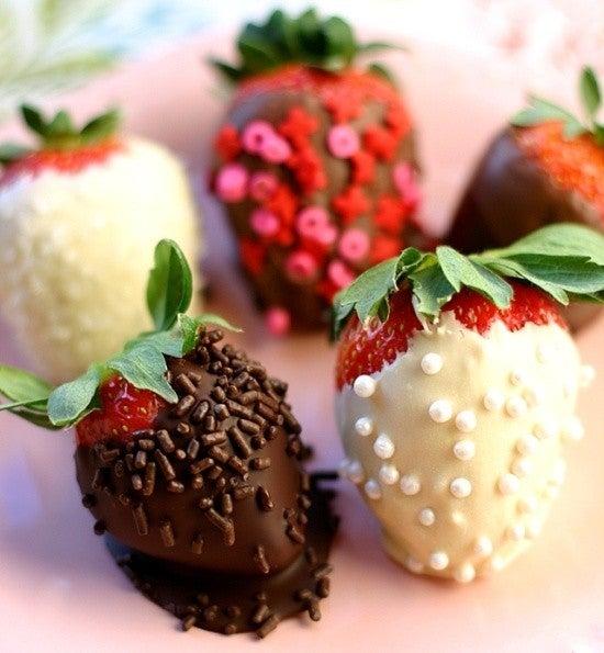 Fresas bañadas en chocolate, ideales para S Valentín 2015