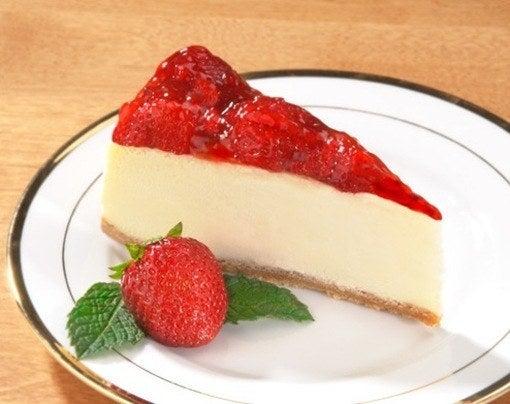 Pastel de queso con fresa