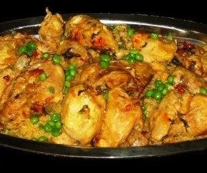 Receta paella pollo