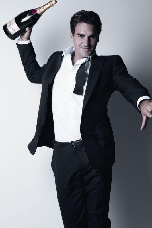 Roger Federer for Moët & Chandon - Photographer Patrick Demarchelier - © Moët & Chandon