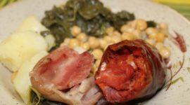 Cocido gallego con androlla y grelos