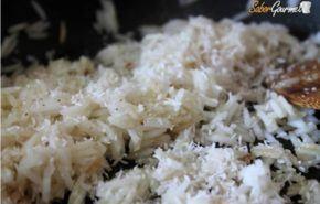 Pollo al curry de madras con arroz Basmati