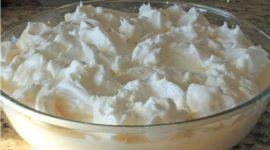 Arroz con leche y merengue