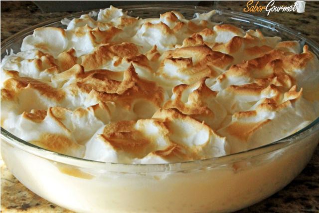 arroz con leche y merengue