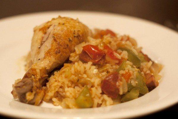 pollo a la cacerola con arroz