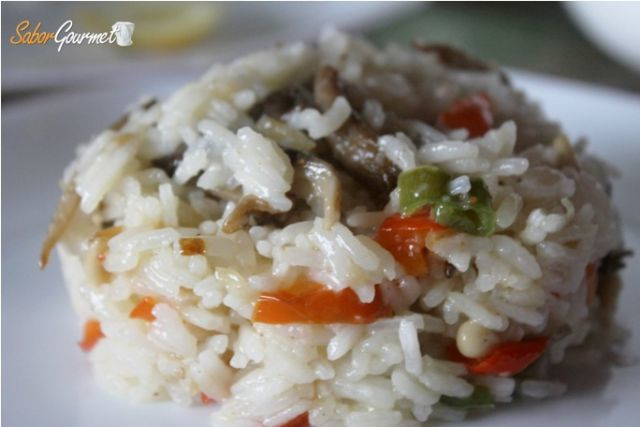 arroz thai verduras