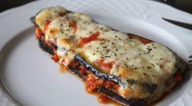 Berenjenas con atún y mozzarella