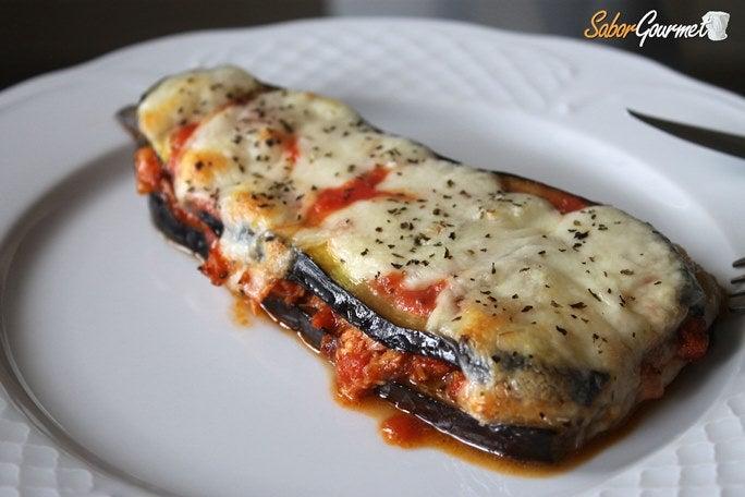 Berenjenas con at n y mozzarella - Berenjenas con mozzarella ...