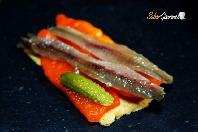canape anchoa pimiento de piquillo