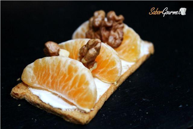 canape mandarinas y nueces