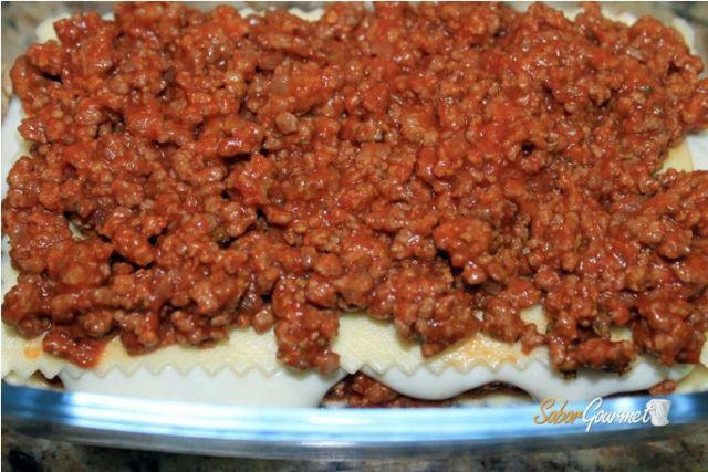 carne picada lasaña