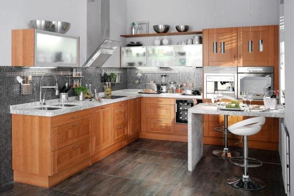 Consejos de decoraci n para tu cocina for Cocinas grandes