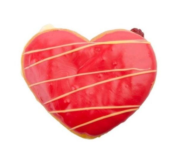 Como hacer donuts para san valentin con forma de corazon de fresa y vainilla
