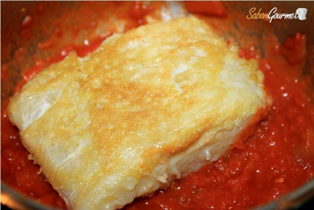 como preparar bacalao con tomate