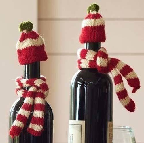 decorar-mesa-navidad-ideas-decorar-botellas