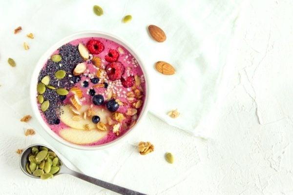 Desayunos sanos batidos frutas