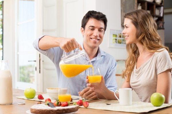 Desayunos sanos zumo natural