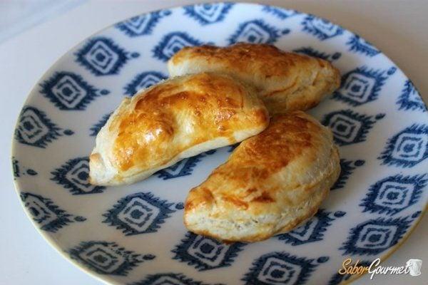 Empanadillas de hojaldre al horno rellenas de verduras - Verduras rellenas al horno ...