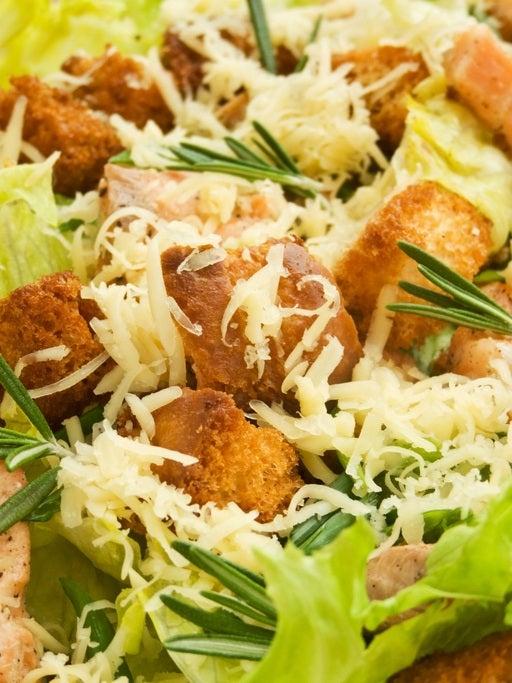 Ensalada cesar vegetariana soja