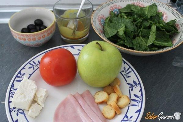 ensalada-espinacas-mostaza-miel-ingredientes