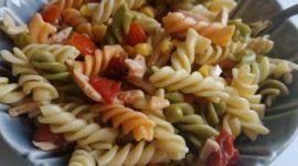 Ensalada de pasta con pavo