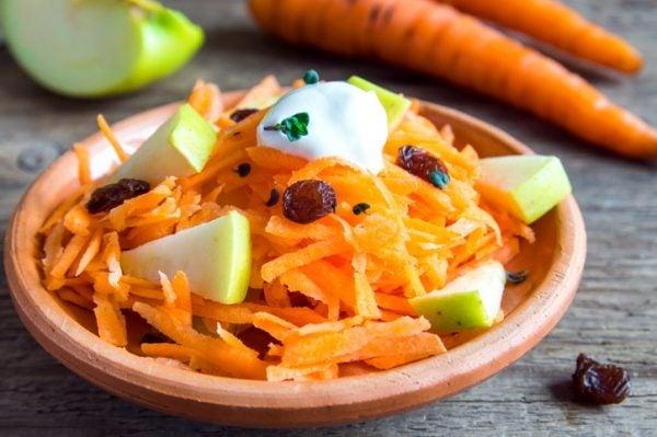 Ensalada zanahoria manzana