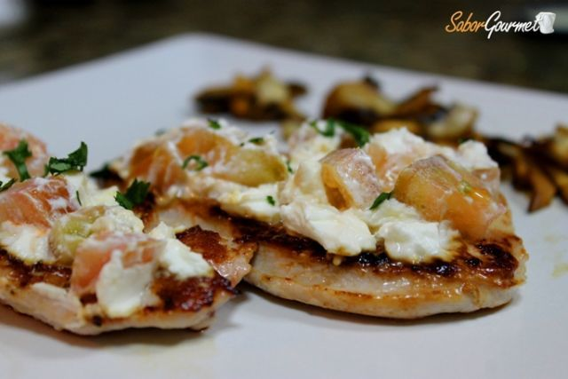 filetes de pechuga de pavo con queso