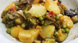 Receta vegetariana: Patatas guisadas con verduras