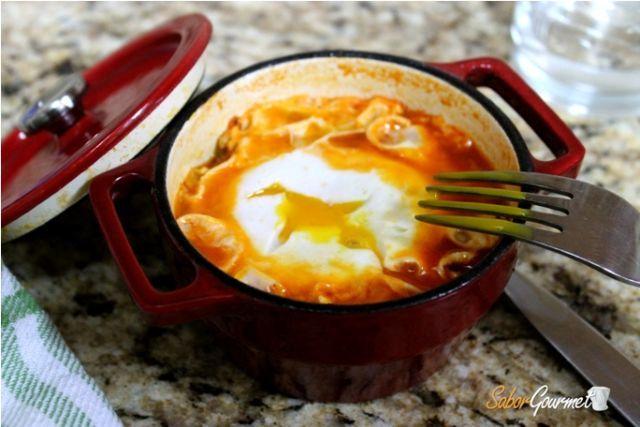 huevos con pisto
