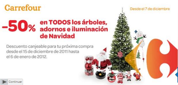 Restaurantes y recetas cat logo carrefour navidad 2011 - Arboles de navidad precios ...