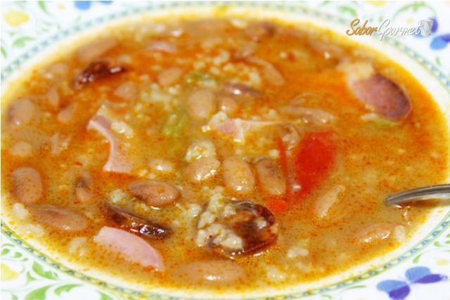 Jud as pintas con arroz recetas de cocina en sabor gourmet - Arroz con judias pintas ...