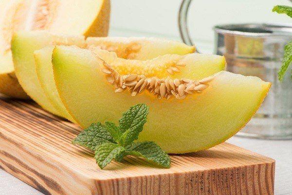 La ensalada fresca con melon
