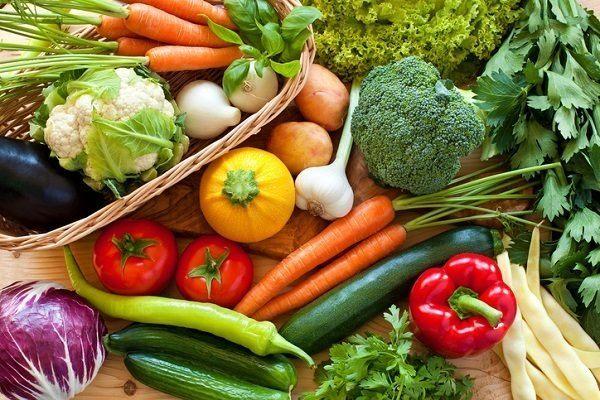 La receta vegetariana ensalada de vegetales