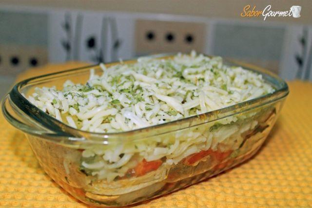lasaña de calabacin y tomate