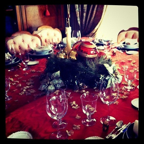 Restaurantes y recetas mesas navide as - Mesa navidena ...