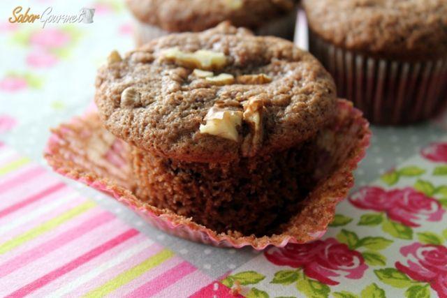 muffins chocolate y nueces