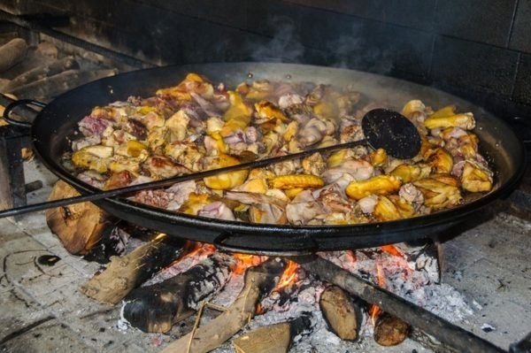 Paella valenciana autentica preparacion