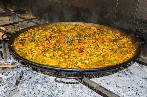 Paella valenciana preparacion