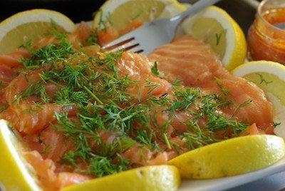 Gravlax, salmón al estilo sueco