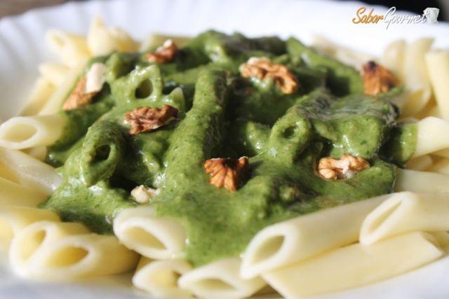 pasta-espinacas-gorgonzola