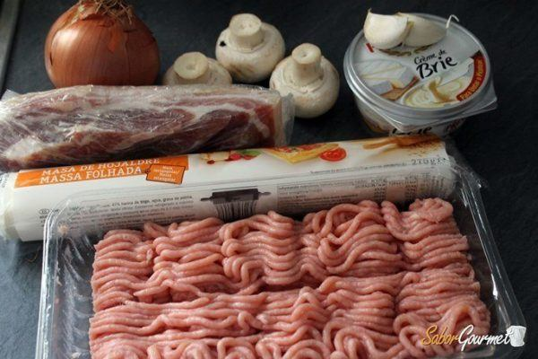 pastel-de-carne-en-hojaldre-ingredientes