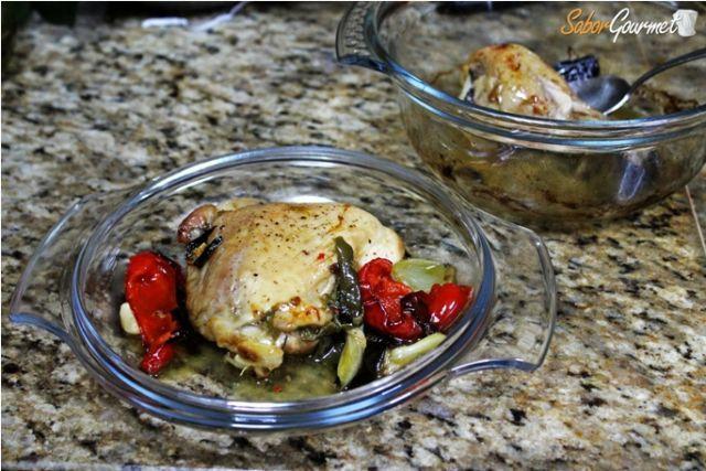 pollo horno verduras