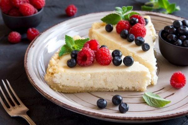 Postres diabeticos tarta queso