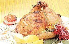 Pollo relleno a la manteca de hierbas