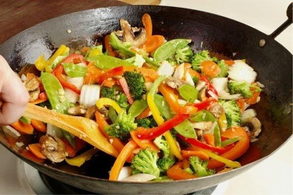 Preparacion verduras salteadas tiempo de coccion