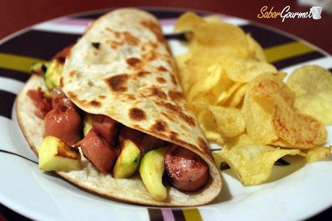 quesadilla-salchicha-calabacin