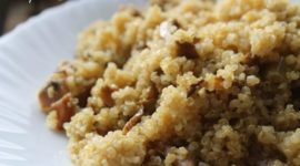 Quinoa con níscalos