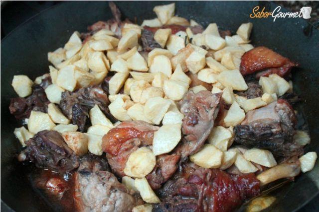 receta pollo corral