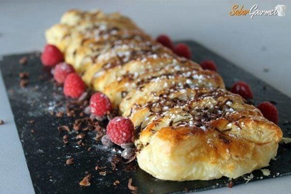 recetas-de-hojaldre-faciles-trenza-hojaldre-crema-pastelera-chocolate