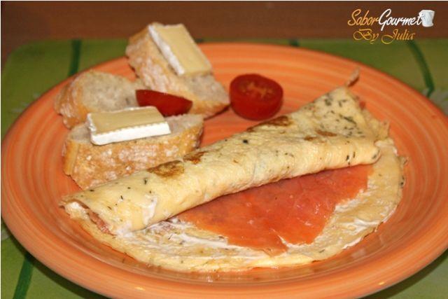 rollito tortilla de salmón